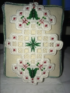 Hardanger Ornament #2 - Roz Watnemo Nordic Needle, Just Cross Stitch Ornament Issue2012